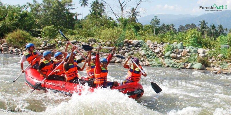 Rafting di Sungai Alas Taman Nasional Gunung Leuser