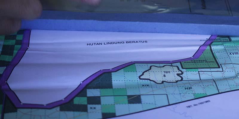 Peta Rencana Areal Layak Tebang