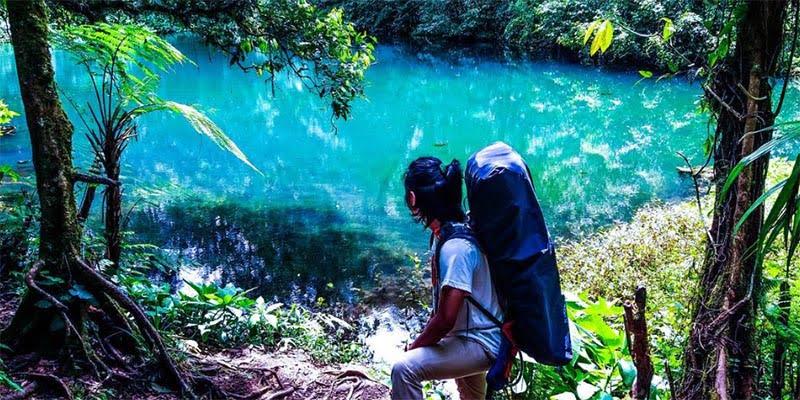 Telaga Biru di Taman Nasional Gunung Gede Pangrango