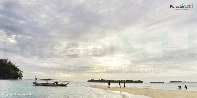Pantai di Pulau Harapan