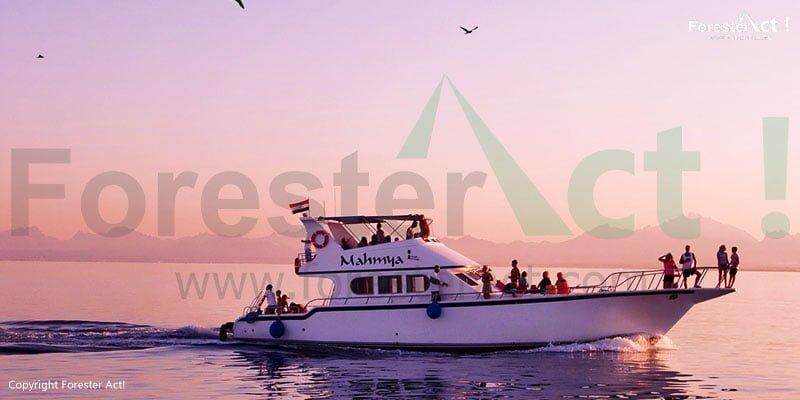 Perahu yang merupakan salah satu transportasi untuk menjangkau spot-spot snorkeling atau scuba diving di sekitar Gili Trawangan
