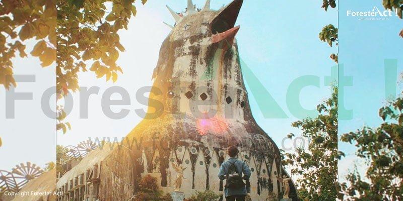 Gereja Ayam di sekitar Punthuk Setumbu