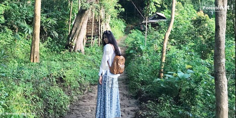 Jalan setapak menuju spot berfoto di Punthuk Setumbu