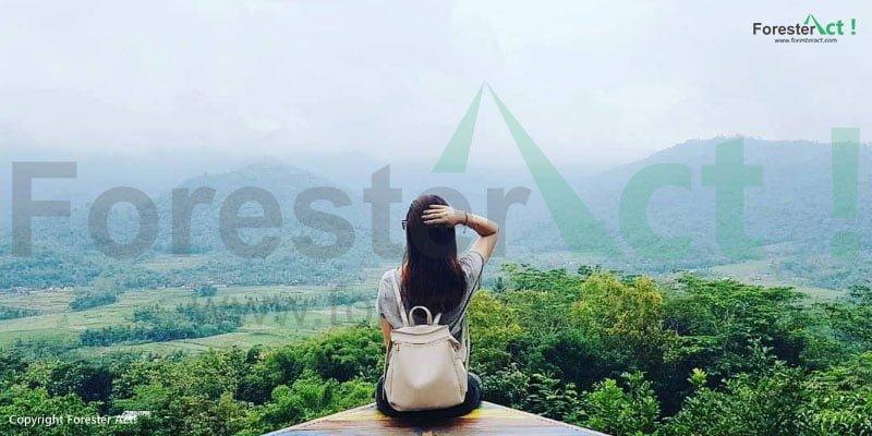 Latar foto yang indah di Punthuk Setumbu