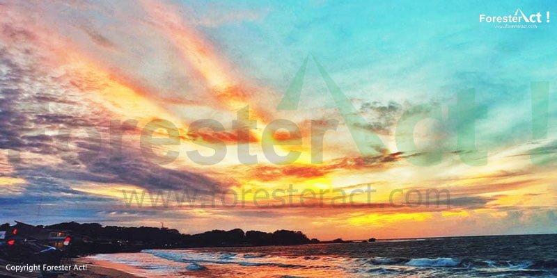 Lembayung sunset di Pantai Santolo