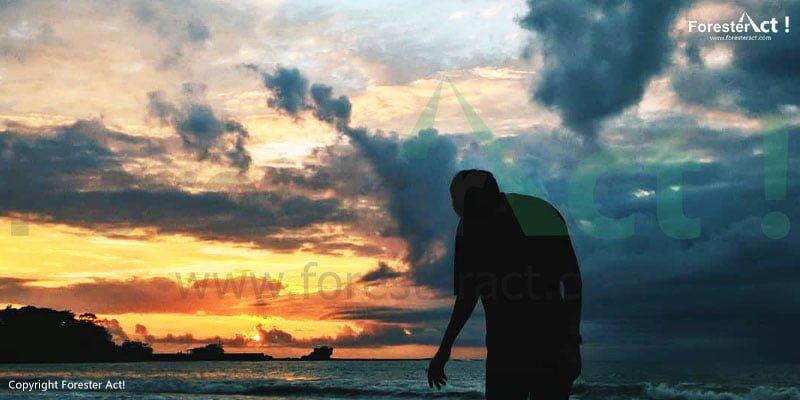Senja di Pantai Santolo