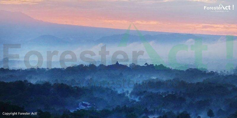 View candi borobudur dari Punthuk Setumbu
