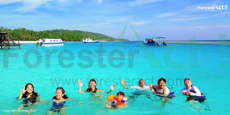 Kegiatan Snorkeling di Pulau Derawan