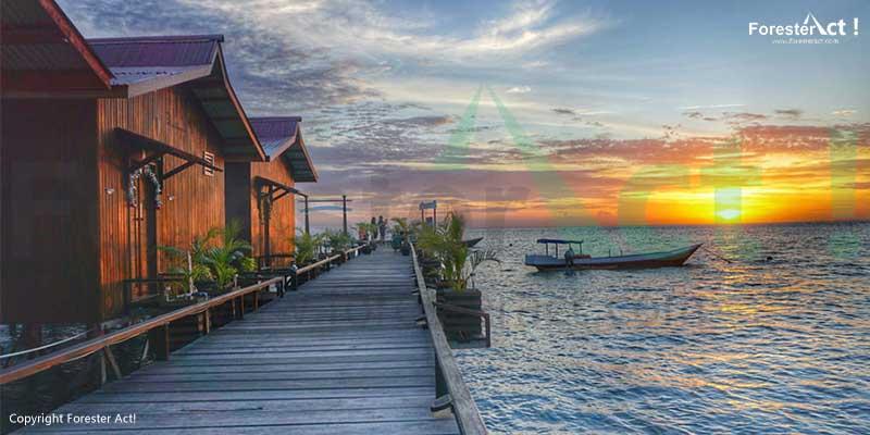 Sunset di Kepulauan Derawan