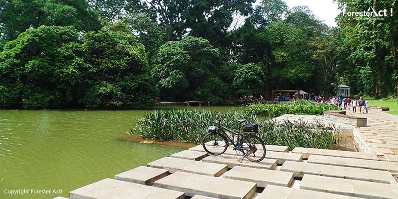 Bersepeda di Sekitar Danau Gunting Kebun Raya Bogor