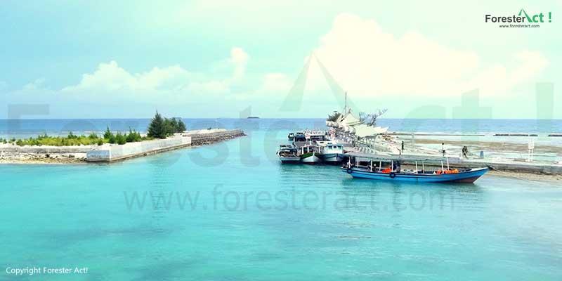 Dermaga di Pulau Tidung Kepulauan Seribu