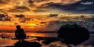 Sunset di Pantai Carita