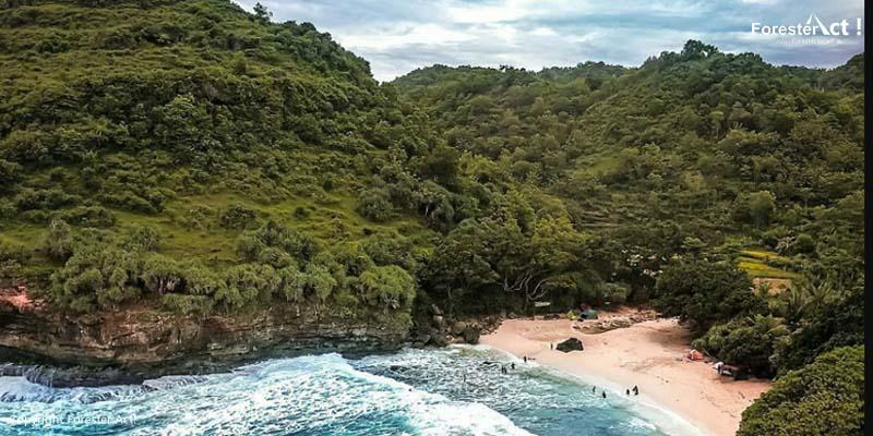 Pantai Ngitung yang Tersembunyi di Balik Perbukitan