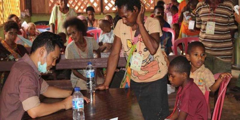 Pelayanan kesehatan di Klinik Asiki Papua