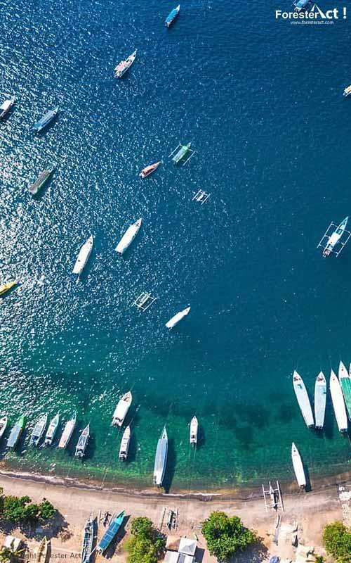 Aerial Fotografi di Pantai Senggigi