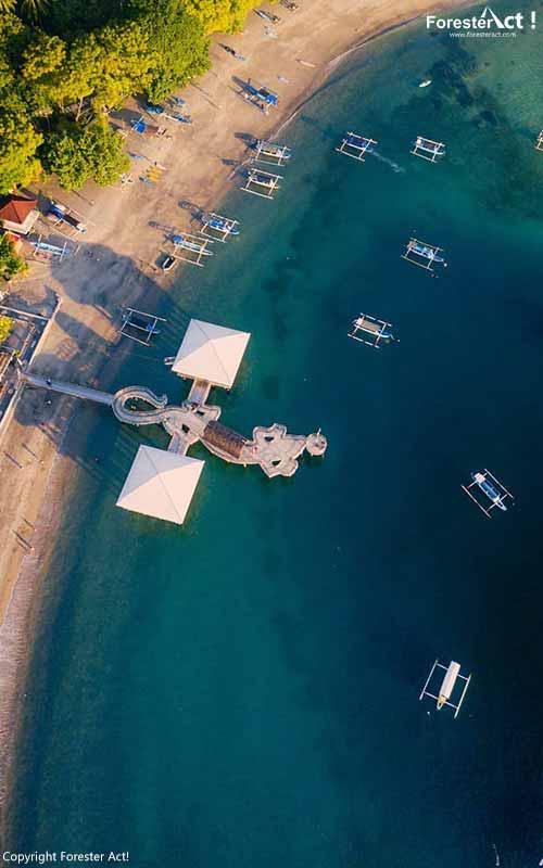 Dock Indah di Pantai Senggigi