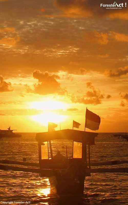 Sunset di Laut Senggigi