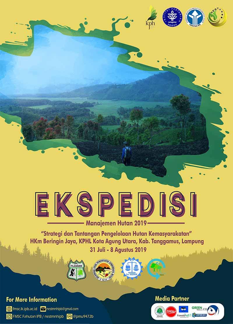 Poster Ekspedisi Manajemen Hutan 2019