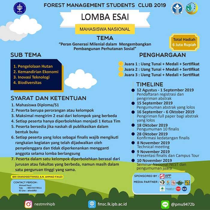 Poster Lomba Esai NEST 2019