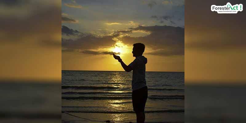 Sunset di Pantai Klayar (instagram.com)