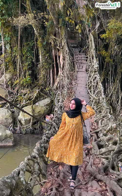 Berfose di Jembatan Akar (instagram.com)