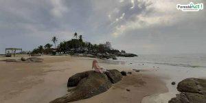 Perempuan dan Pantai Parai Tenggiri (instagram.com)