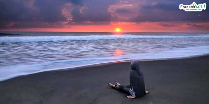 Sunset di Pantai Trisik (instagram.com)