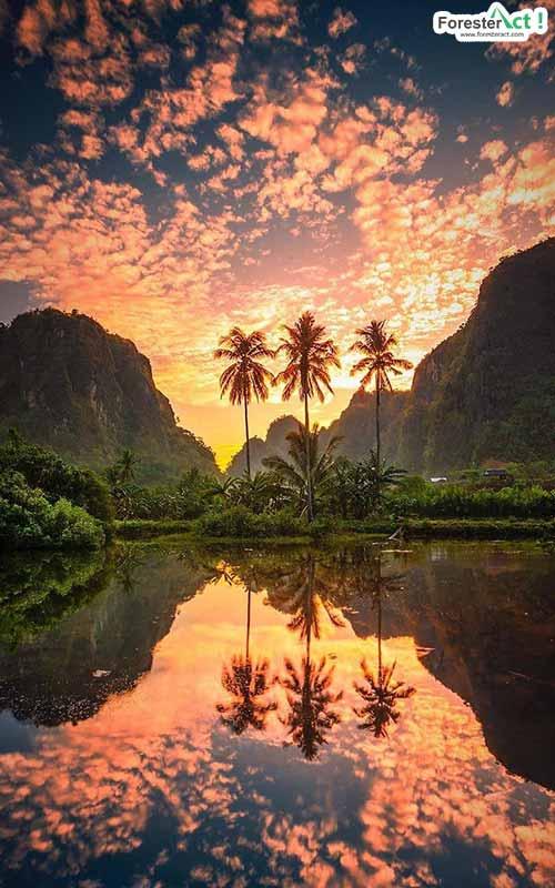 Sunset di Rammang Rammang (instagram.com)
