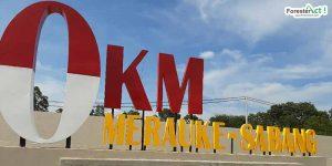 0 km Merauke-Sabang (Diambil oleh Siti Hudaiyah)