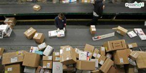 Proses penyortiran paket belanja online